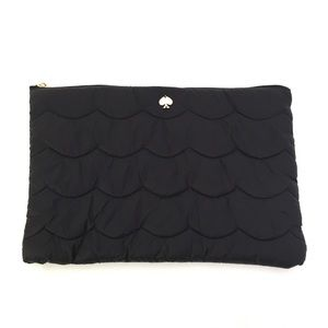 Kate Spade NY Black Puffy Laptop Carrying Bag Case